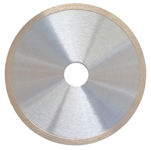 Super thin continuous rim tile blade